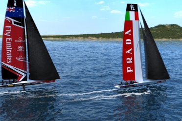 The 36th America's Cup class boat concept of the AC